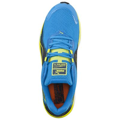 Puma Faas 500 V4 F5 Mens Running Shoes Blue-Black-Yellow - Top View