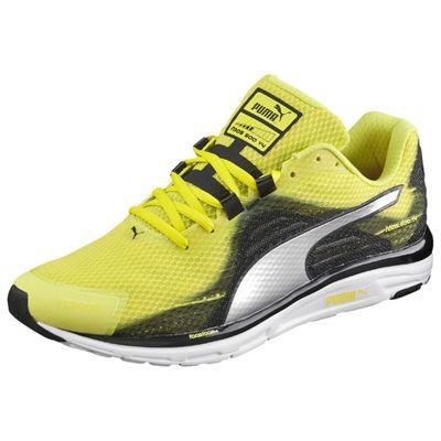Puma Faas 500 v4 Mens Running Shoes-Green Silver-Black - Angle View