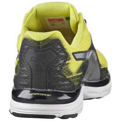 Puma Faas 500 v4 Mens Running Shoes-Green Silver-Black - Rear View