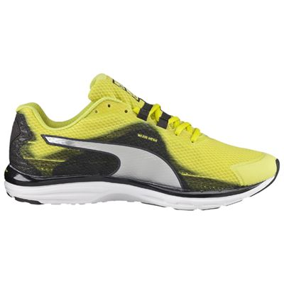 Puma Faas 500 v4 Mens Running Shoes-Green Silver-Black - Side View