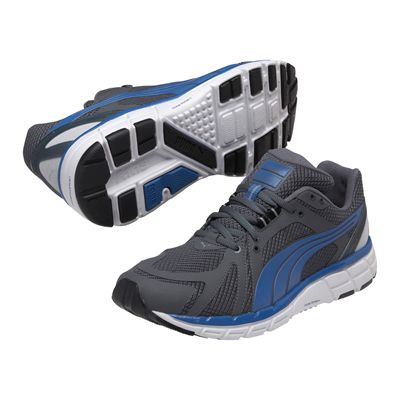 Puma Faas 600 S Mens Running Shoes-Grey and Blue and White