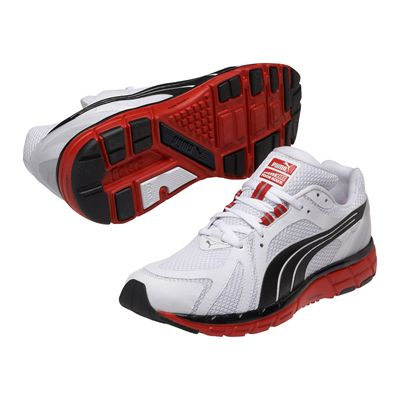 Puma Faas 600 S Mens Running Shoes-White and Black and Red