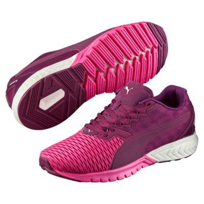 Puma Ignite Dual Ladies Running Shoes-Purple-Pink