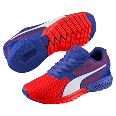 Puma Ignite Dual Ladies Running Shoes-Red-Blue