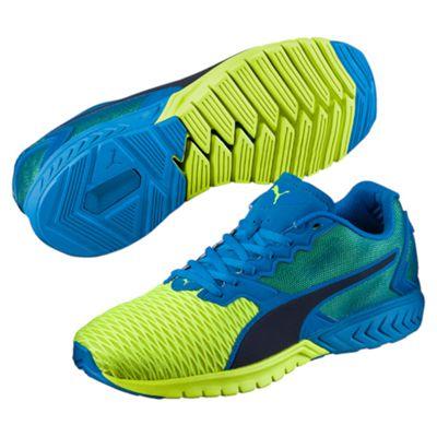 Puma Ignite Dual Mens Running Shoes-Blue-Yellow