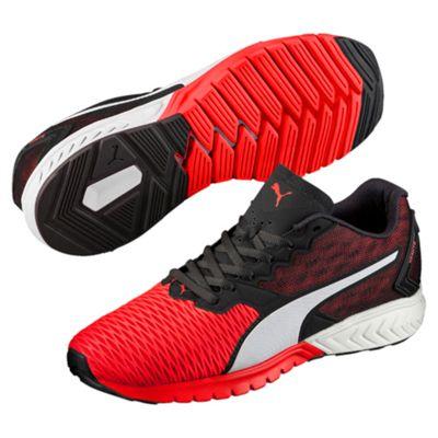 Puma Ignite Dual Mens Running Shoes-Red-Black