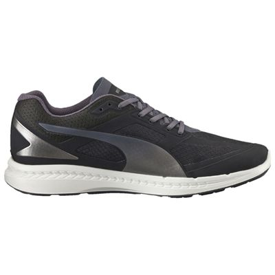 Puma Ignite Mesh Mens Running Shoes - Black/Silver - Side