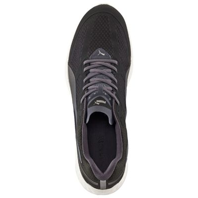 Puma Ignite Mesh Mens Running Shoes - Black/Silver - Top