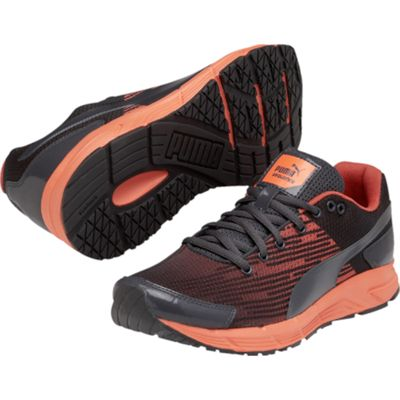 Puma Sequence Ladies Running Shoes-Black and Orange