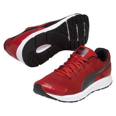 Puma Sequence Mens Running Shoes Red Black