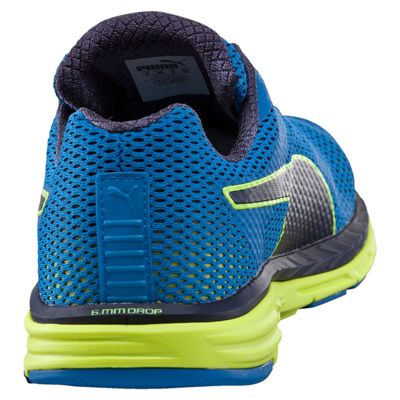 Puma Speed 500 Ignite Mens Running Shoes-Blue-Yellow-Back
