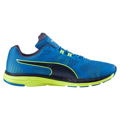 Puma Speed 500 Ignite Mens Running Shoes-Blue-Yellow-Side
