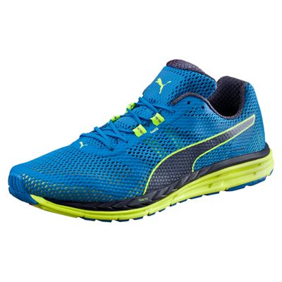 Puma Speed 500 Ignite Mens Running Shoes-Blue-Yellow-Standalone