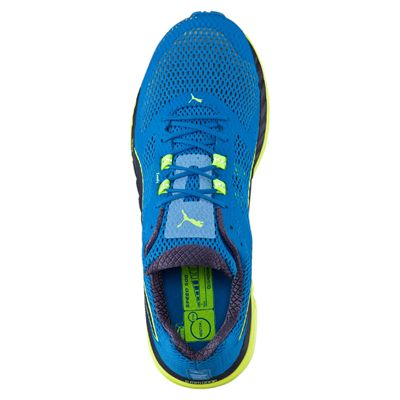 Puma Speed 500 Ignite Mens Running Shoes-Blue-Yellow-Top