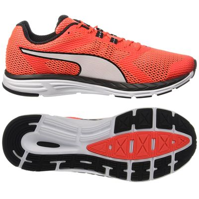 Puma Speed 500 Ignite Mens Running Shoes-Red-White-Main Image