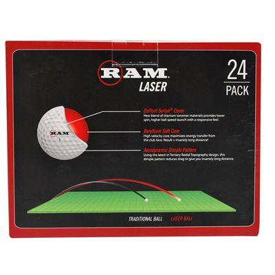 RAM Laser Golf Balls - Back