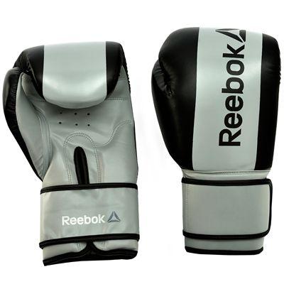 Reebok Combat Boxing Gloves-Grey-16oz