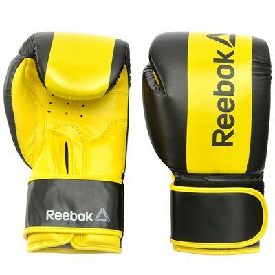 Reebok Combat Boxing Gloves-Yellow-12oz