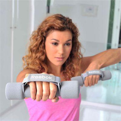 Reebok Elements 1kg Soft Grip Hand Weights - In Use