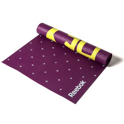Reebok Hello Hi 4mm Double Sided Yoga Mat-Partially Rolled
