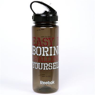 Reebok Mens Training Easy is Boring 650ml Water Bottle