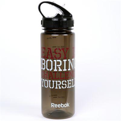 Reebok Mens Training Easy is Boring 650ml Water Bottle