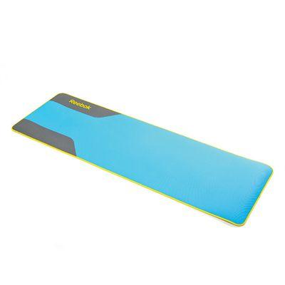 Reebok Premium Yoga Mat Cyan Unfolded