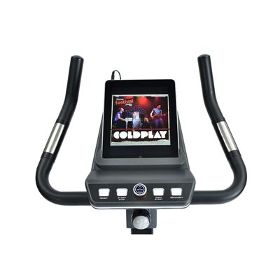 Reebok Titanium TC3.0 Exercise Bike Console Front iPad View