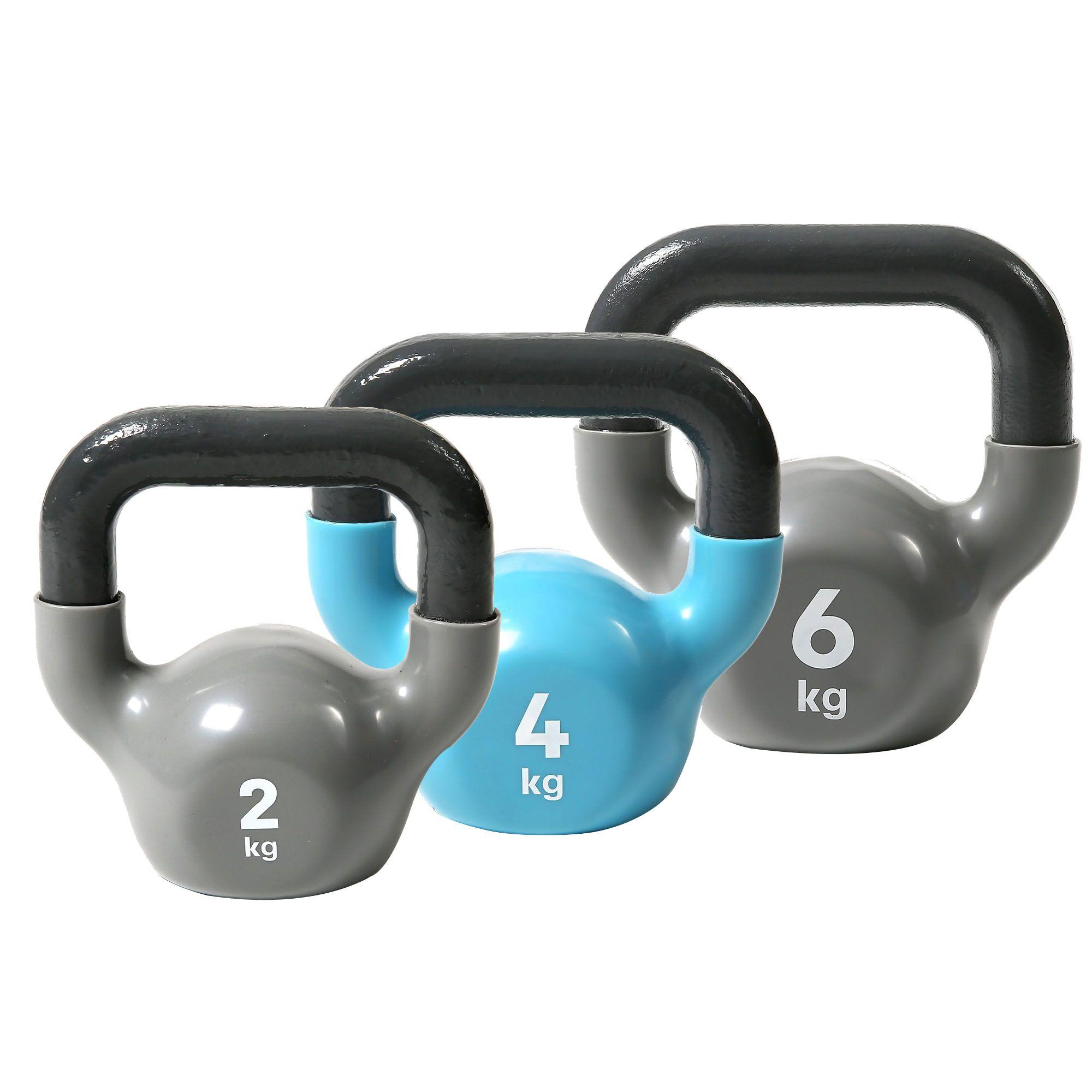 Reebok Womens Training 2 4 And 6kg Kettlebell Set