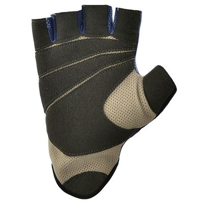 Reebok Womens Training Fitness Gloves-Blue and Black-Bottom