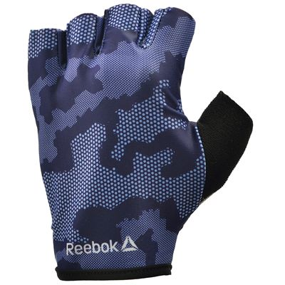 Reebok Womens Training Fitness Gloves-Blue and Black