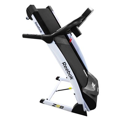 Reebok ZR8 Treadmill - White - Folded