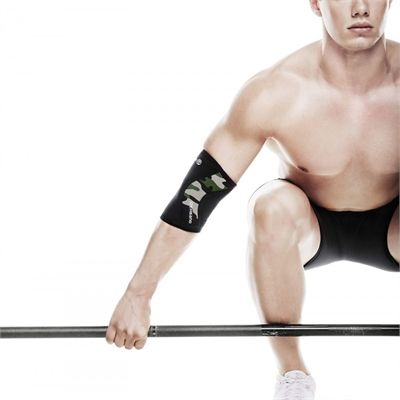 Rehband RX Elbow Sleeve - Camo - In Use