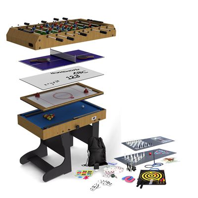 Riley 4ft 12 in 1 Folding Multi Games Table - Main