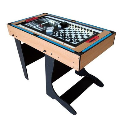 Riley 4ft 12 in 1 Folding Multi Games Table Chess BackgammonRiley 4ft 12 in 1 Folding Multi Games Table Chess Backgammon