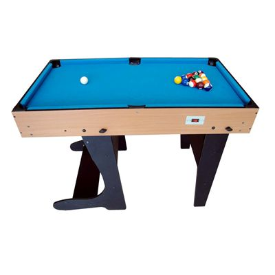 Riley 4ft 12 in 1 Folding Multi Games Table Pole Snooker