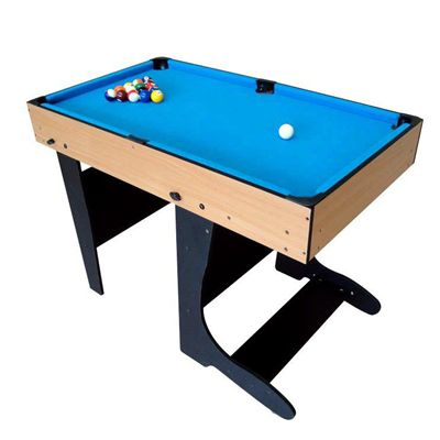 Riley 4ft 12 in 1 Folding Multi Games Table Snooker Side View
