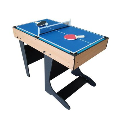 Riley 4ft 12 in 1 Folding Multi Games Table Tennis