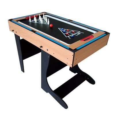 Riley 4ft 21 in 1  Folding Multi Games Table Bowling Shuffle Board
