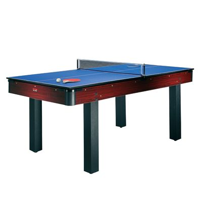 Rosewood 6ft Pool Table with Table Tennis and Desktop