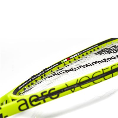 Salming Fusione Feather Aero Vectran Squash Racket Double Pack - Slant - Frame