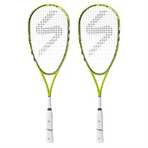 Salming Fusione Feather Aero Vectran Squash Racket Double Pack