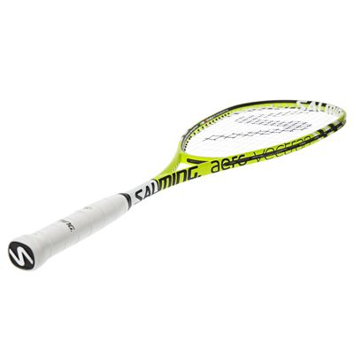 Salming Fusione Feather Aero Vectran Squash Racket - Angled