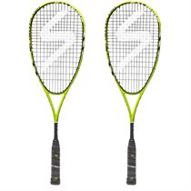 Salming Fusione Pro Aero Vectran Squash Racket Double Pack