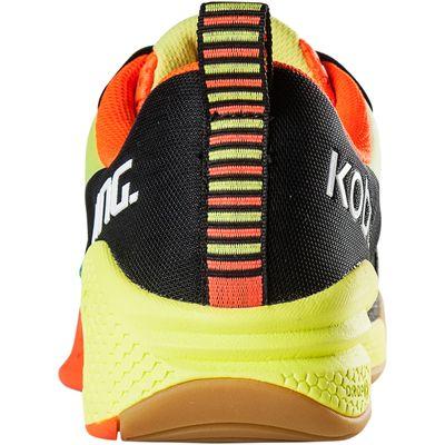 Salming Kobra Mens Court Shoes-Black-Orange-Back