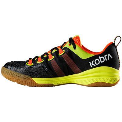 Salming Kobra Mens Court Shoes-Black-Orange-Side