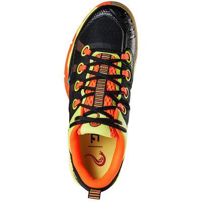 Salming Kobra Mens Court Shoes-Black-Orange-Top