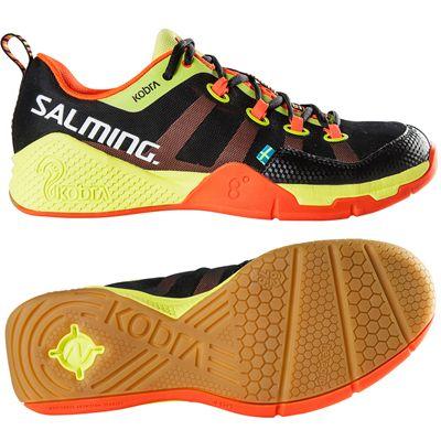 Salming Kobra Mens Court Shoes-Black-Orange