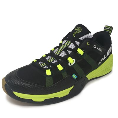 Salming Kobra Mens Indoor Court Shoes - Black - Angled