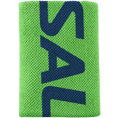 Salming Mid Wristband-Green-Navy